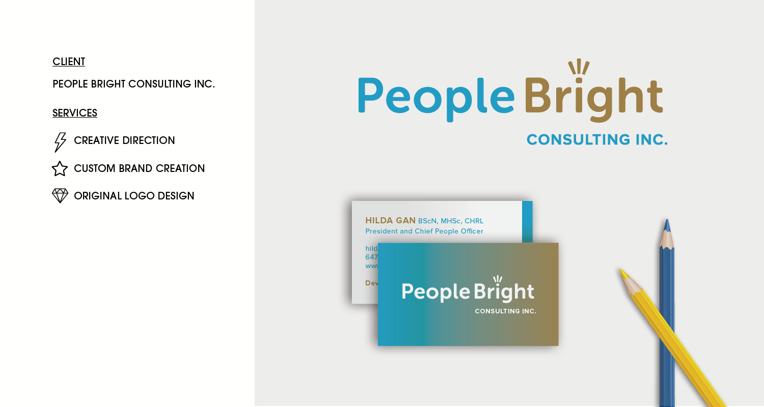 People bright consulting logo design brittany pickrem branding the project scope people bright consulting helps companies malvernweather Choice Image