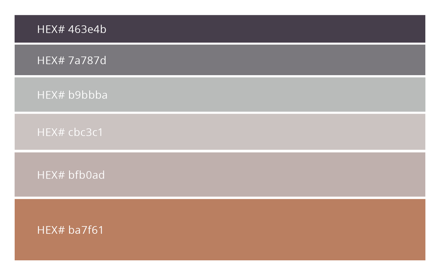 Behind The Design Feminine, Fall Colour Palette   with HEX codes