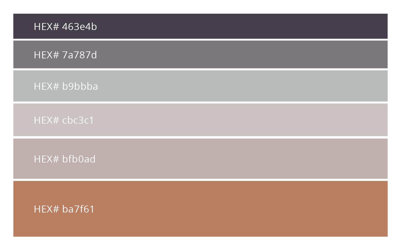 Autumn Colour Palette, Fall Colour Palette, HEX codes